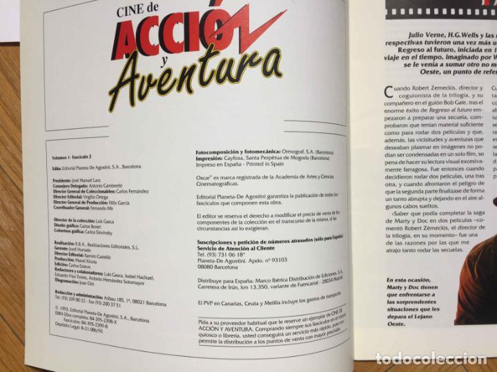 Cine: 2 fascículos CINE DE ACCIÓN Y AVENTURA (Planeta De Agostini, 1993) Nºs 1 y 2 ¡Coleccionista! - Foto 5 - 189893342