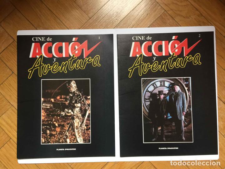 2 FASCÍCULOS CINE DE ACCIÓN Y AVENTURA (PLANETA DE AGOSTINI, 1993) NºS 1 Y 2 ¡COLECCIONISTA! (Cine - Revistas - Otros)