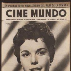Cinéma: REVISTA CINE MUNDO 1961 COLLEEN MILLER DANIELE GAUBERT GENE TIERNEY JAMES MASON CONSTANTINO GRANDE. Lote 190005690