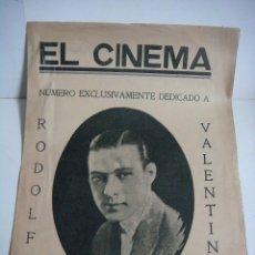 Cine: REVISTA CINEMA NUMERO 1 DE DICIEMBRE DE 1926. Lote 190040205