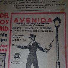 Cine: ANUNCIO PRENSA MI ÚLTIMO TANGO SARA MONTIEL. Lote 190431480