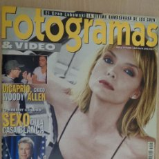 Cine: DE KIOSKO. REVISTA FOTOGRAMAS Nº 1855. MAYO 1998. MICHELE PFEIFFER. JOHN TRAVOLTA. DI CAPRIO. Lote 190544780