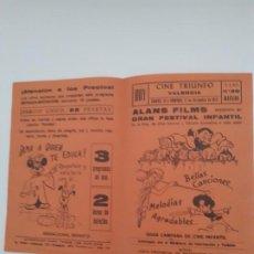 Cine: FOLLETO PROGRAMACION AÑOS 72. Lote 190577163