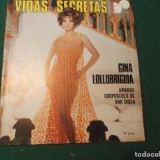 Cine: VIDAS SECRETAS Nº 6, GINA LOLLOBRIGIDA, AMARGO CREPUSCULO DE UNA DIOSA. Lote 209994560