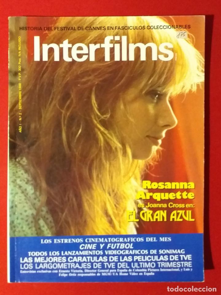 REVISTA INTERFILMS Nº 2 SEPTIEMBRE 1988 ROSANNA ARQUETTE, CINE Y FUTBOL... (Cine - Revistas - Interfilms)