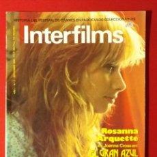 Cine: REVISTA INTERFILMS Nº 2 SEPTIEMBRE 1988 ROSANNA ARQUETTE, CINE Y FUTBOL... . Lote 190869043