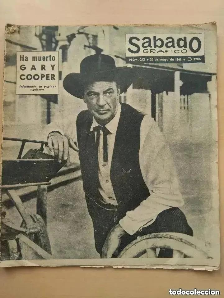 SABADO GRAFICO. NUM 242 1.961 HA MUERTO GARY COOPER. (Cine - Revistas - Otros)