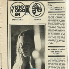 Cine: RECORTE ROSA MORATA ROBERT MITCHUM FERNANDO REY FOTO ARTÍCULO 1974 JOAN BACA Y TONI GARRIGA. Lote 191116801