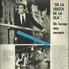 Cine: RECORTE PEDRO LAZAGA JAVIER ESCRIVÁ FOTO ARTÍCULO 1974 GAËTANE GAËL, JONATHAN HUNTER. Lote 191117002