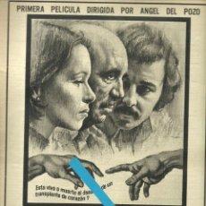 Cine: RECORTE ANUNCIO ¿Y EL PRÓJIMO? FILME ANTONIO FERRANDIS GERALDINE CHAPLIN JUAN DIEGO ANGEL DEL POZO. Lote 191117657