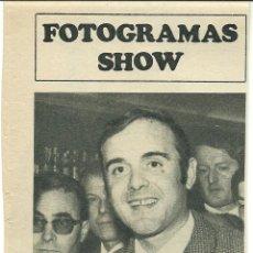Cine: RECORTE NOVELISTA JUAN MARÍA MANSERA PREMIO CAFÉ GIJÓN FOTO ARTÍCULO 1968 EN UN CAMINO CUALQUIERA. Lote 191118608