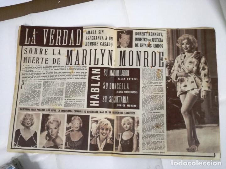 REVISTA, CINE EN 7 DIAS.GRAN REPORTAJE SOBRE LA MUERTE DE MARILYN MONROE. NO.107.27 ABRIL 1963. (Cine - Revistas - Cine en 7 dias)