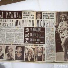 Cine: REVISTA, CINE EN 7 DIAS.GRAN REPORTAJE SOBRE LA MUERTE DE MARILYN MONROE. NO.107.27 ABRIL 1963.. Lote 191251017
