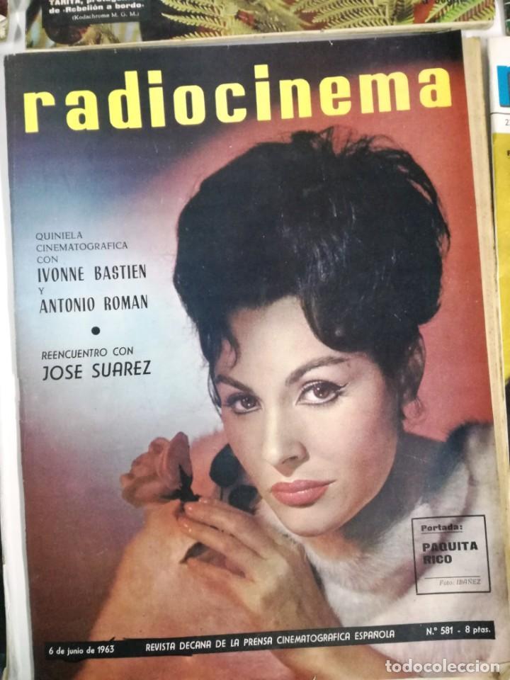 Cine: LOTE DE 8 REVISTAS RADIOCINEMA AÑOS 60 VER FOTOS . - Foto 3 - 191354275
