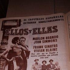 Cine: PUBLICIDAD PRENSA PELICULA ELLOS Y ELLAS 1957. Lote 191391990