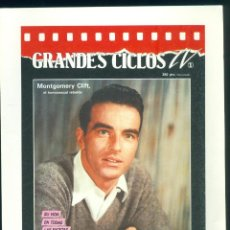 Cine: FOLLETO PUBLICIDAD GRANDES CICLOS TV MONTGOMERY CLIF . Lote 191406226