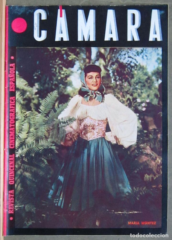 ZY83D MARIA MONTEZ REVISTA ESPAÑOLA CAMARA AGOSTO 1945 (Cine - Revistas - Cámara)