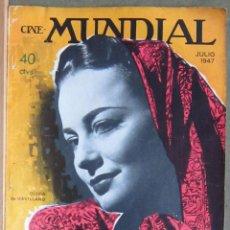 Cine: ZY96D OLIVIA DE HAVILLAND REVISTA AMERICANA EN ESPAÑOL CINE MUNDIAL JULIO 1947. Lote 191491653