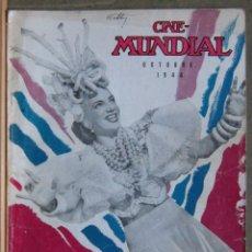 Cine: ZY99D CARMEN MIRANDA REVISTA AMERICANA EN ESPAÑOL CINE MUNDIAL OCTUBRE 1944. Lote 191493008