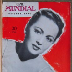 Cine: ZZ08D OLIVIA DE HAVILLAND REVISTA AMERICANA EN ESPAÑOL CINE MUNDIAL OCTUBRE 1945. Lote 191496156
