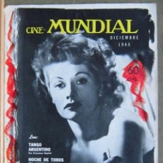 Cine: ZZ09D LUCILLE BALL REVISTA AMERICANA EN ESPAÑOL CINE MUNDIAL DICIEMBRE 1945. Lote 191497826