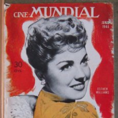Cine: ZZ10D ESTHER WILLIAMS REVISTA AMERICANA EN ESPAÑOL CINE MUNDIAL JUNIO 1946. Lote 191498508