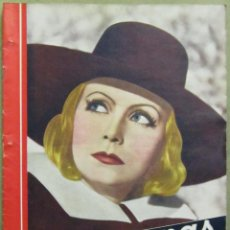 Cine: AAD31 GRETA GARBO REVISTA ESPAÑOLA CINEGRAMAS ENERO 1935 Nº 18. Lote 191617363
