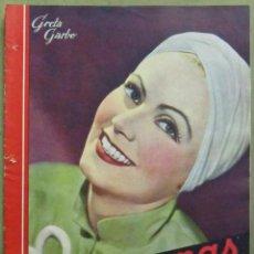 Cine: AAD37 GRETA GARBO REVISTA ESPAÑOLA CINEGRAMAS MARZO 1935 Nº 25. Lote 191618865