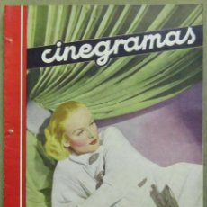 Cine: AAD39 CAROLE LOMBARD REVISTA ESPAÑOLA CINEGRAMAS MARZO 1935 Nº 26. Lote 191619810
