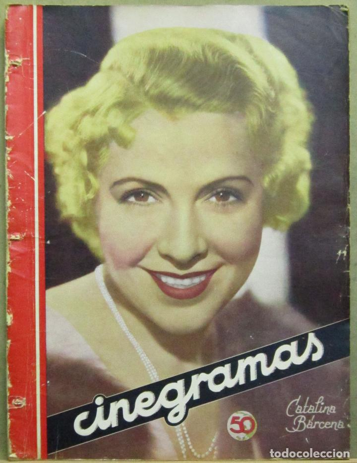 AAD42 CATALINA BARCENA REVISTA ESPAÑOLA CINEGRAMAS ABRIL 1935 Nº 30 (Cine - Revistas - Cinegramas)
