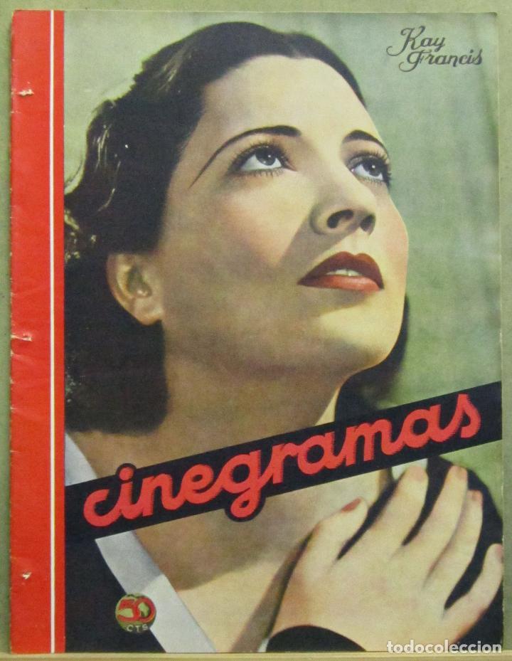 AAD44 KAY FRANCIS REVISTA ESPAÑOLA CINEGRAMAS ABRIL 1935 Nº 32 (Cine - Revistas - Cinegramas)