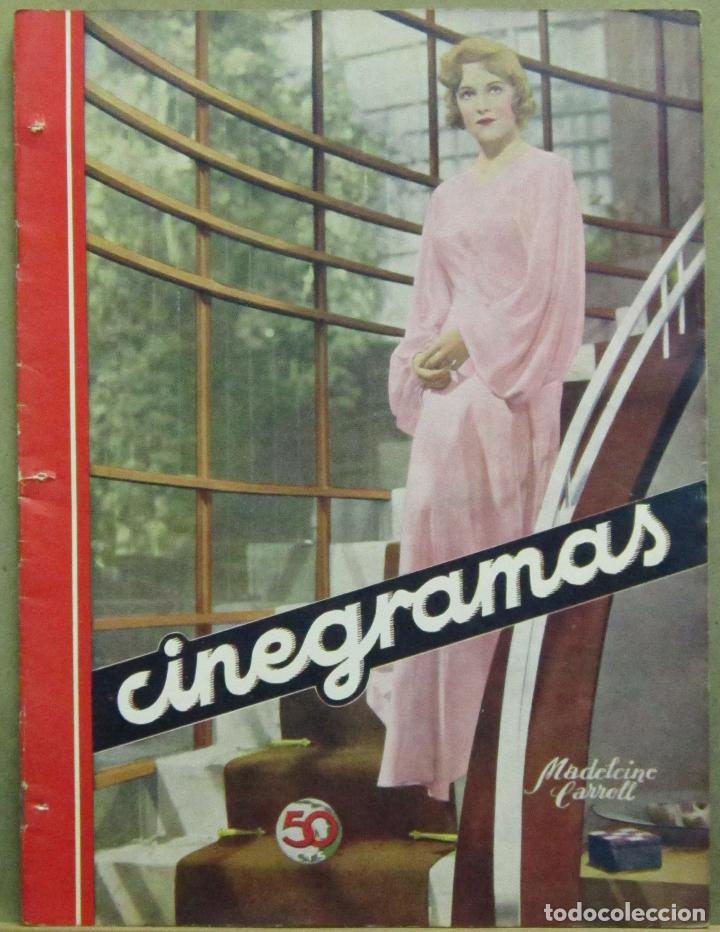 AAD46 MADELEINE CARROLL REVISTA ESPAÑOLA CINEGRAMAS MAYO 1935 Nº 34 (Cine - Revistas - Cinegramas)