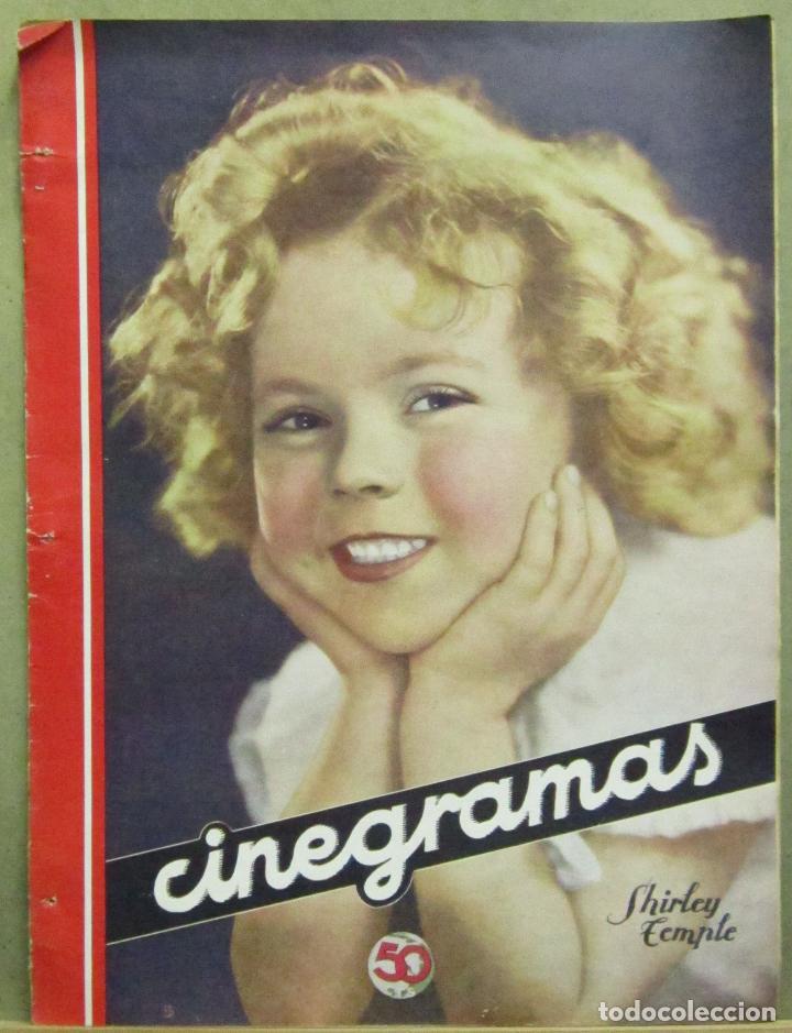AAD48 SHIRLEY TEMPLE REVISTA ESPAÑOLA CINEGRAMAS JULIO 1935 Nº 43 (Cine - Revistas - Cinegramas)