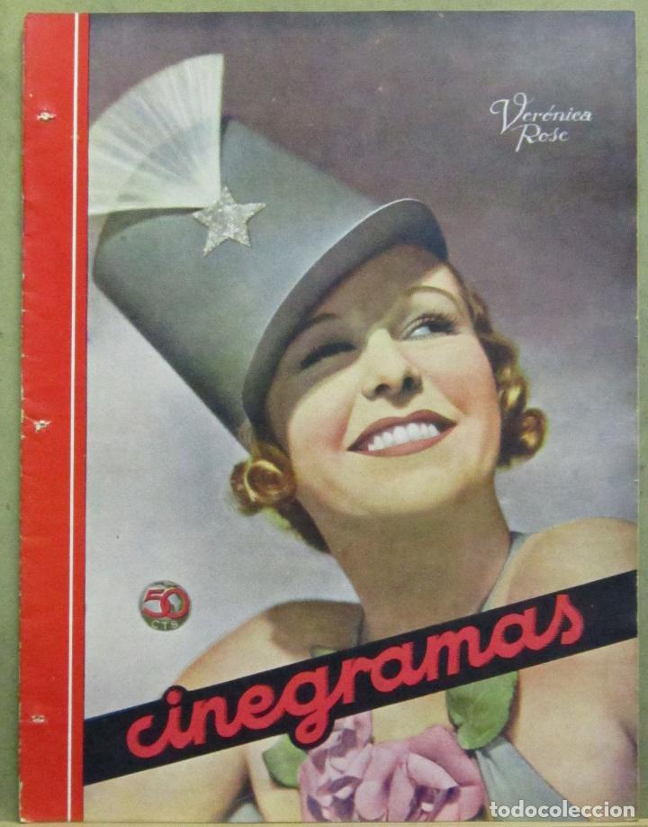 AAD47 VERONICA ROSE REVISTA ESPAÑOLA CINEGRAMAS MAYO 1935 Nº 36 (Cine - Revistas - Cinegramas)