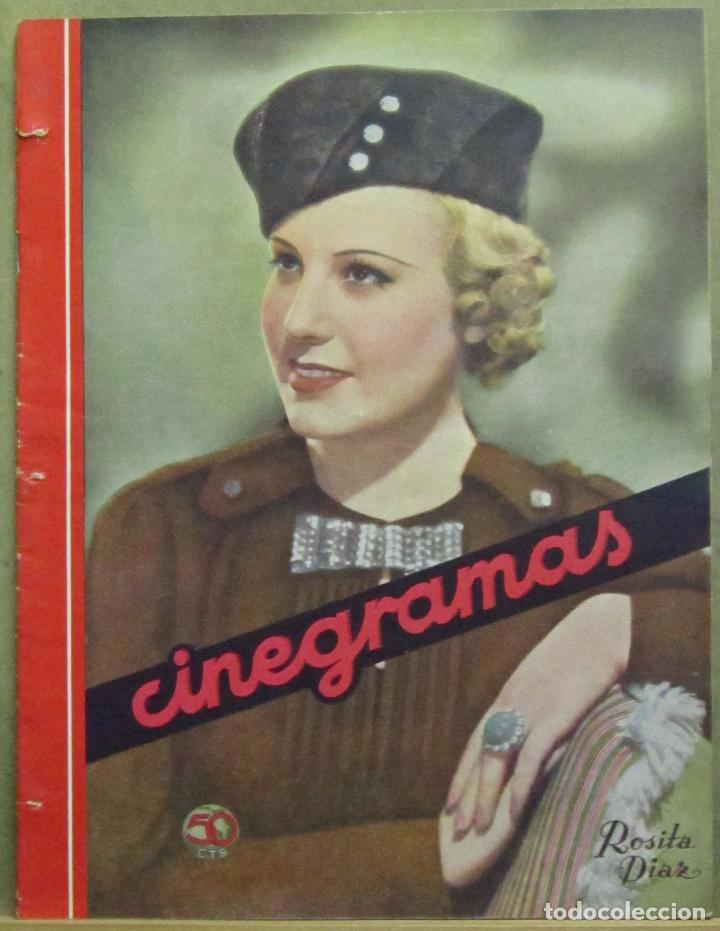 AAD50 ROSITA DIAZ REVISTA ESPAÑOLA CINEGRAMAS JUNIO 1935 Nº 38 (Cine - Revistas - Cinegramas)