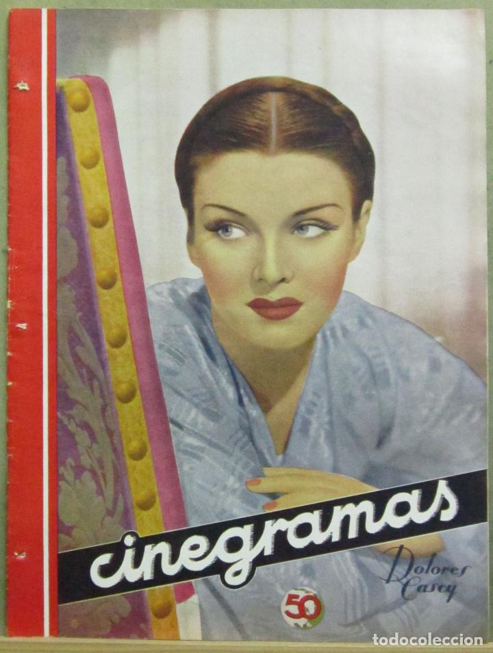 AAD52 DOLORES CASEY REVISTA ESPAÑOLA CINEGRAMAS JUNIO 1935 Nº 40 (Cine - Revistas - Cinegramas)