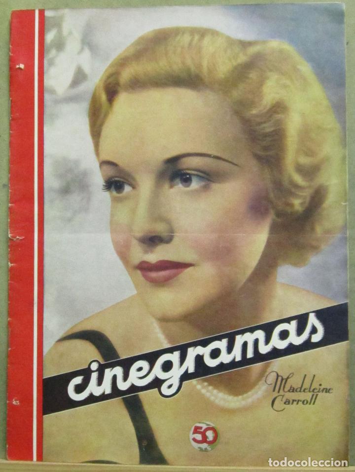 AAD54 MADELEINE CARROLL REVISTA ESPAÑOLA CINEGRAMAS JUNIO 1935 Nº 41 (Cine - Revistas - Cinegramas)