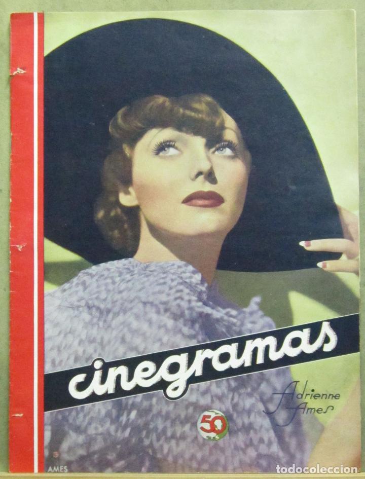 AAD53 ADRIENNE AMES REVISTA ESPAÑOLA CINEGRAMAS JUNIO 1935 Nº 42 (Cine - Revistas - Cinegramas)