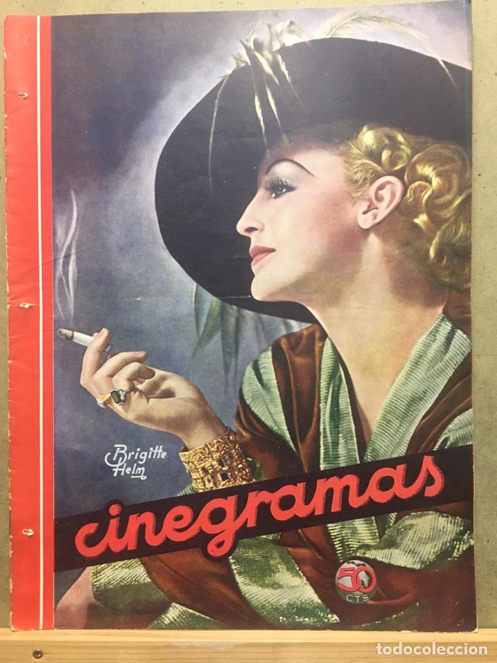 AAD56 BRIGITTE HELM REVISTA ESPAÑOLA CINEGRAMAS FEBRERO 1935 Nº 22 (Cine - Revistas - Cinegramas)
