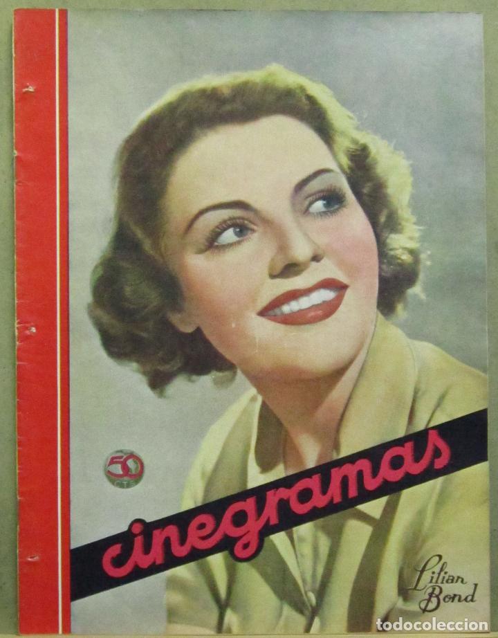AAD55 LILIAN BOND REVISTA ESPAÑOLA CINEGRAMAS MAYO 1935 Nº 35 (Cine - Revistas - Cinegramas)