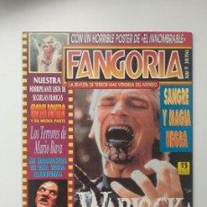 Cine: FANGORIA Nº 20 WARLOCK, THE ARMAGEDDON, KMB, MARIO BRAVA, EL INNOMBRABLE, SANGRE Y MAGIA NEGRA. Lote 191630047