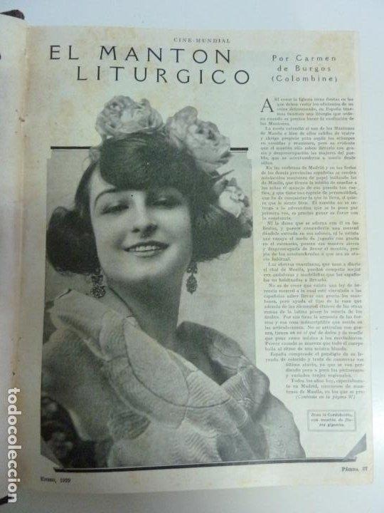 Cine: REVISTAS ENCUADERNADAS EN UN TOMO. CINE MUNDIAL. AÑO 1929 - Foto 3 - 215570431