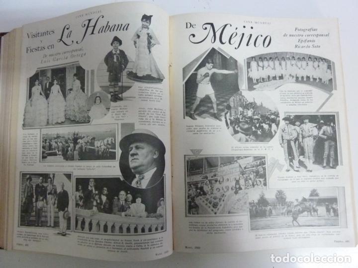 Cine: REVISTAS ENCUADERNADAS EN UN TOMO. CINE MUNDIAL. AÑO 1929 - Foto 4 - 215570431