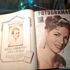 Cine: TOMO ENCUADERNADO DE VARIOS EJEMPLARES DE LA REVISTA FOTOGRANAS DE 1958. Lote 191653223