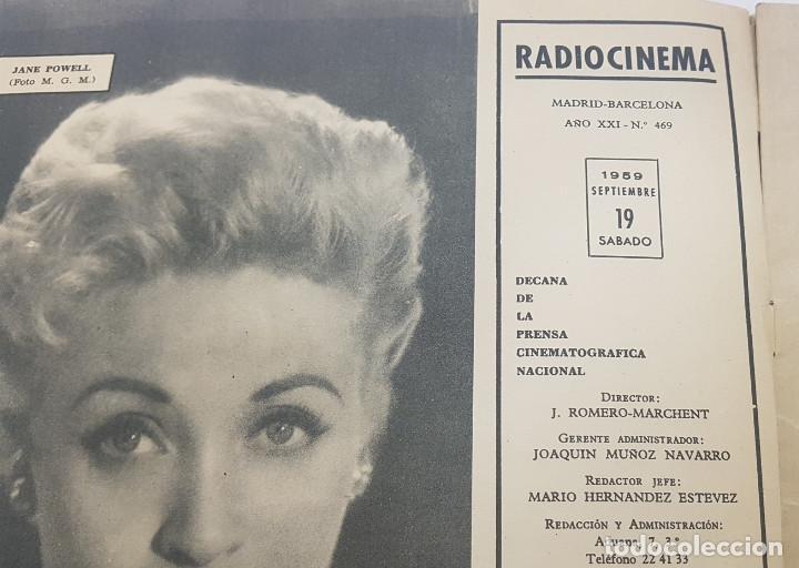 Cine: REVISTA RADIO CINEMA 1959 nº 469 (Fancisco Rabal, La fiel infanteria, Vera Tschchowa) - Foto 6 - 191760927