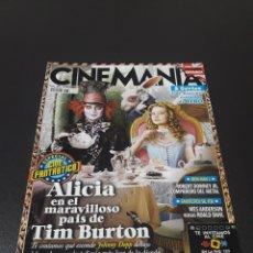 Cine: CINEMANIA N° 175. ABRIL 2010. ALICIA EN EL MARAVILLOSO PAÍS DE TIM BURTON.. Lote 191775278