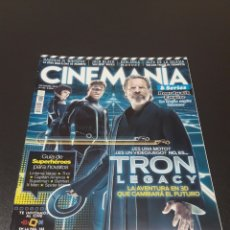 Cine: CINEMANIA N° 183. DICIEMBRE 2010. TRON LEGACY. LA AVENTURA EN 3D QUE CAMBIARÁ EL FUTURO.. Lote 191775603