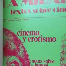 Cine: REVISTA DE CINE LA MIRADA TOMO CON LOS NUMEROS 1 AL 4 ENCUADERNADOS. Lote 191778175