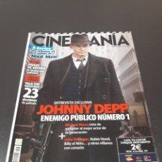 Cine: CINEMANIA N° 167. AGOSTO 2009. JOHNNY DEPP. ENEMIGO PÚBLICO NÚMERO 1.. Lote 191780122