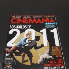 Cine: CINEMANIA N° 184. ENERO 2011. TINTÍN. LOS ÍDOLOS DE 2011.. Lote 191781163